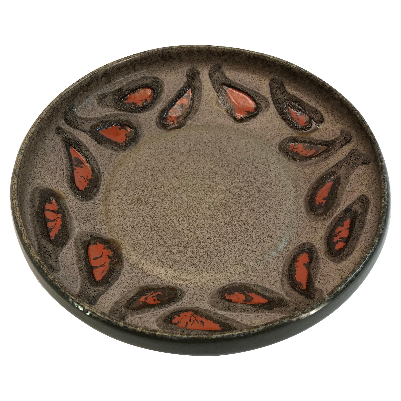 Strehla Ceramic East-Germany Bowl Dish GDR, 1960s