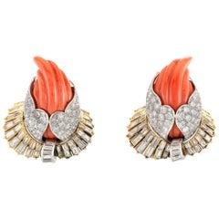 Strele Coral and Diamond Beautiful Earring