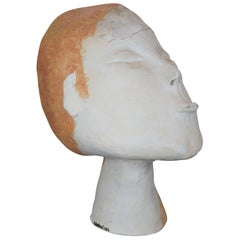 Stress by Deborah Ballard Art Sculpture Figural Head Bust 1986 Contemporary