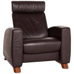 Stressless Arion Leather Armchair Brown Dark Brown Function Relax Function