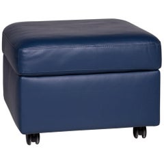 Stressless Arion Leather Stool Blue