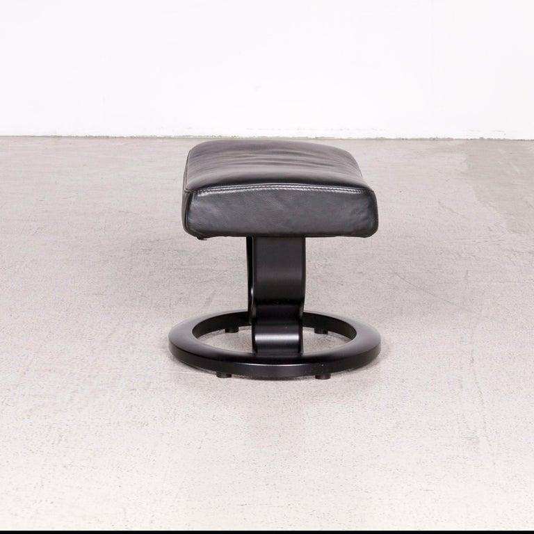 Amazing Stressless Atlantic M Designer Leather Armchair With Stool Black Genuine Creativecarmelina Interior Chair Design Creativecarmelinacom