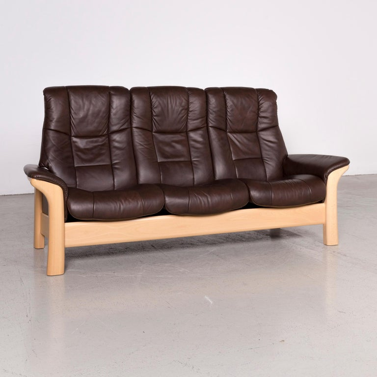 Groovy Stressless Buckingham Designer Leather Sofa Brown Genuine Gmtry Best Dining Table And Chair Ideas Images Gmtryco