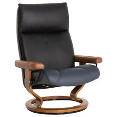 Stressless Consul Leather Armchair Brown Blue Black Function Relax Function