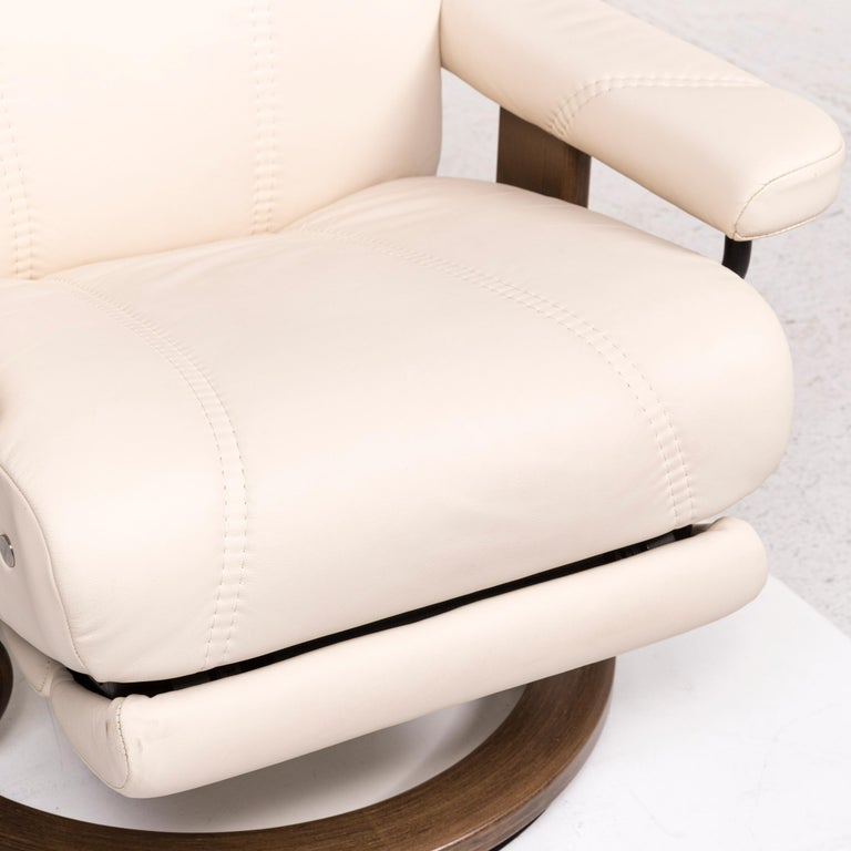 Stressless Consul Leather Armchair Cream Relax Function ...