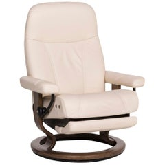 Stressless Consul Leather Armchair Cream Relax Function Electrical Function