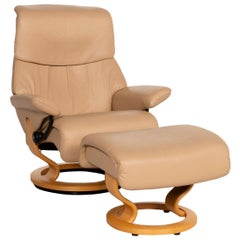 Stressless Dream Leather Armchair Beige Incl