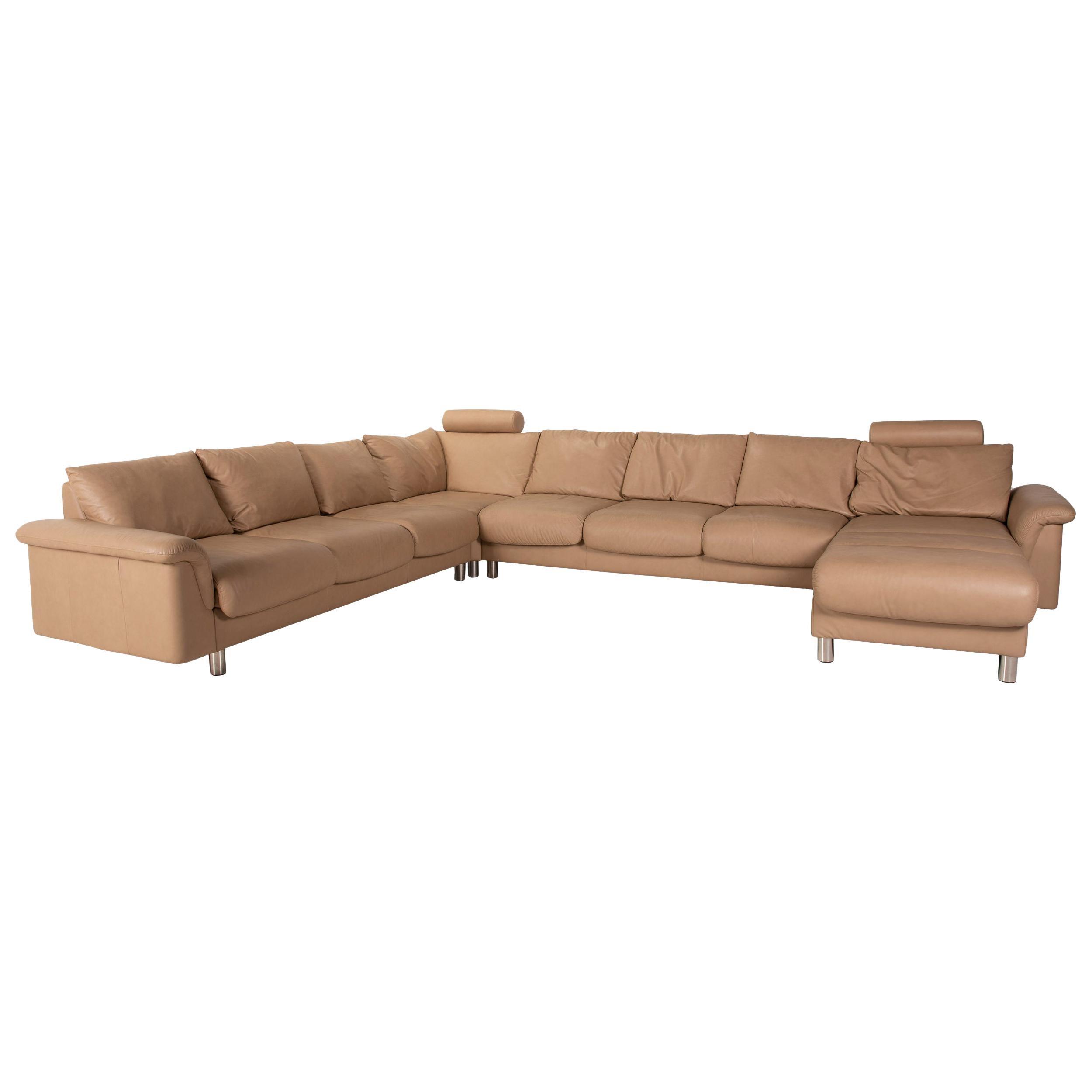 Stressless E300 Leather Sofa Beige Corner Sofa Cream Corner Sofa Couch U-Shape