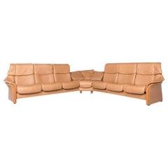 Stressless Eldorado Designer Leather Corner Sofa Beige Real Leather Sofa Couch