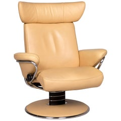 Stressless Jazz Leather Armchair Beige Relax Function
