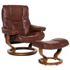 Stressless Kensington Leather Armchair Include Stool Brown