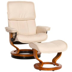 Stressless Leather Armchair Cream Relax Function Function
