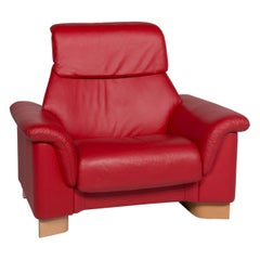 Stressless Leather Armchair Red
