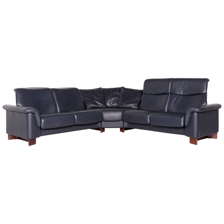 Pleasing Stressless Leather Corner Sofa Blue Sofa Couch Ibusinesslaw Wood Chair Design Ideas Ibusinesslaworg