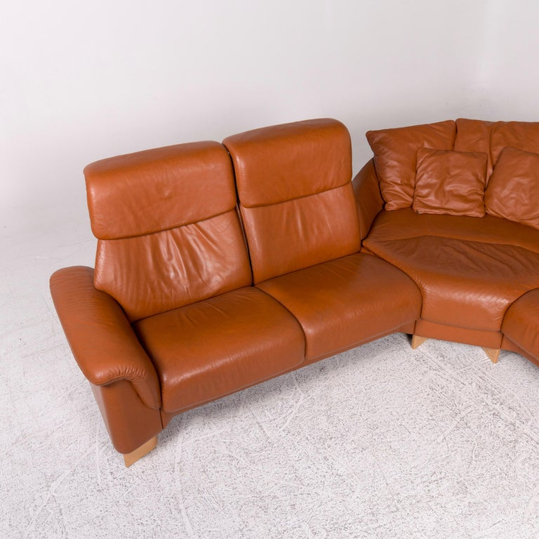Stressless Leather Sofa Brown Corner Sofa At 1stdibs