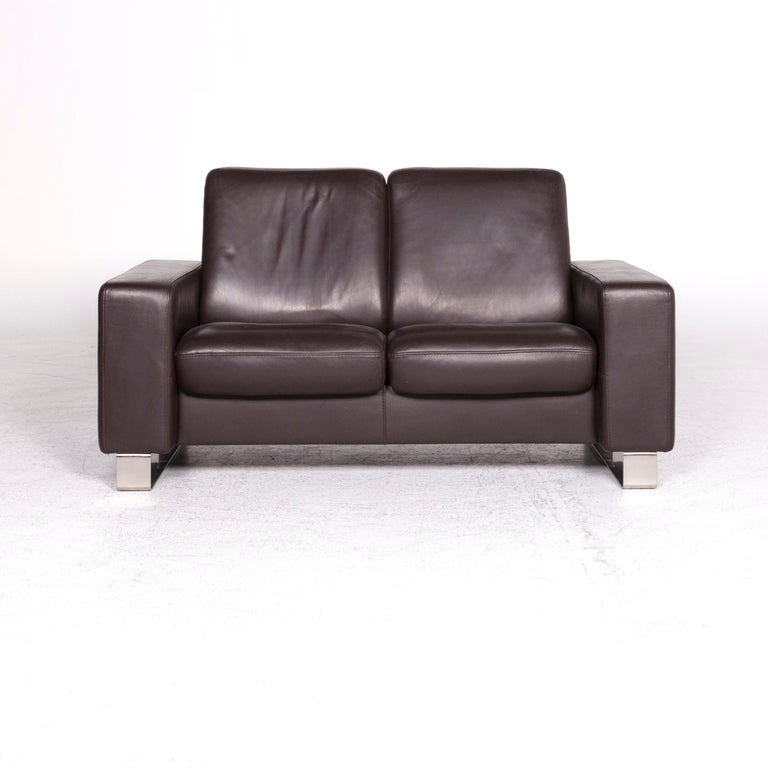 Fantastic Stressless Leather Sofa Brown Two Seat Couch Pdpeps Interior Chair Design Pdpepsorg