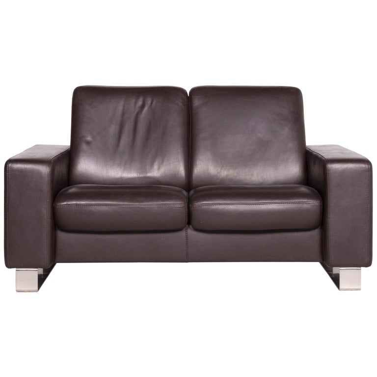 Brilliant Stressless Leather Sofa Brown Two Seat Couch Pdpeps Interior Chair Design Pdpepsorg