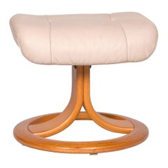 Stressless Leather Stool Beige