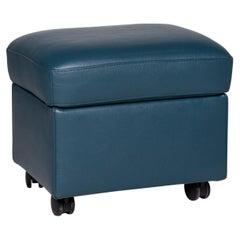 Stressless Leather Stool Blue Petrol Stool