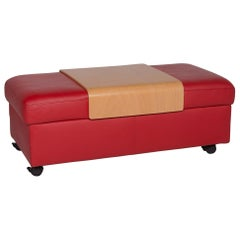 Stressless Leather Stool Red