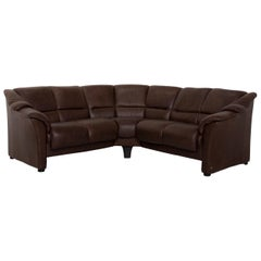 Stressless Oslo Leather Corner Sofa Brown Dark Brown Sofa Couch