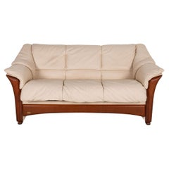 Stressless Oslo Leather Sofa Cream Three Seater Couch