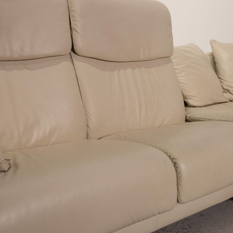 Modern Stressless Paradise Leather Sofa Cream Corner Sofa Couch For Sale