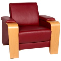 Stressless Pegasus Leather Armchair Red Function