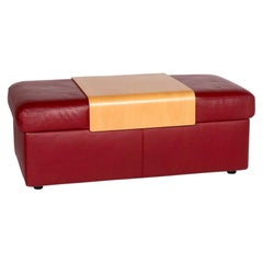 Stressless Pegasus Leather Stool Red Function Ottoman