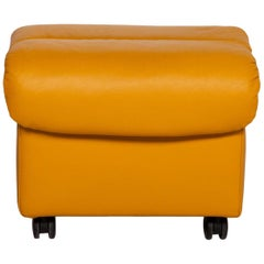 Stressless Soft Leather Stool Yellow