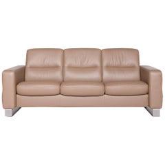 Cool Stressless Paradise Designer Leather High Back Sofa Beige Creativecarmelina Interior Chair Design Creativecarmelinacom