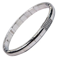 Stretch Diamond Bangle Bracelet and White Gold