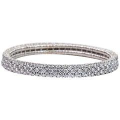Stretch Diamond Bangle Bracelet