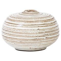 Striated Ceramic Bud Vase, Denmark 1960's