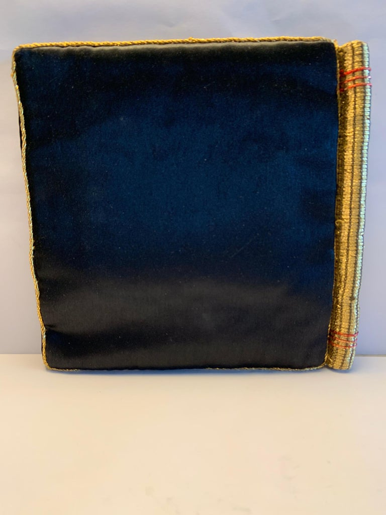 Strictly Personal Purse Black Satin and Gold Beads Shaped Like A Secret Diary  For Sale 3