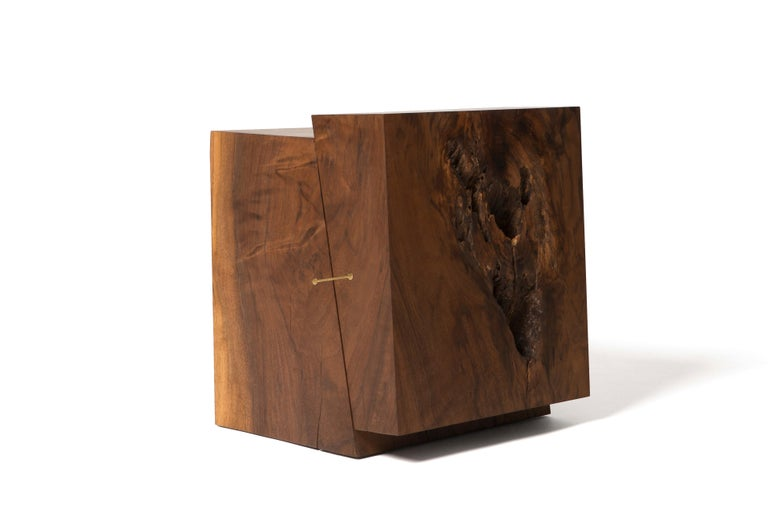 Sawn from beams of solid Eastern walnut, these constructivist styled and strike/slip earthquake inspired building blocks are so versatile. Hand finished on all sides, these blocks can be rotated and/or flipped onto all sides to reveal a unique