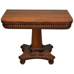 Striking 19th Century William IV Rosewood Antique Tea Table, Games Table