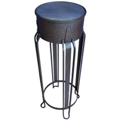 Striking and Top Quality Made Wrought Iron and Brass Art Deco Pedestal or Stand