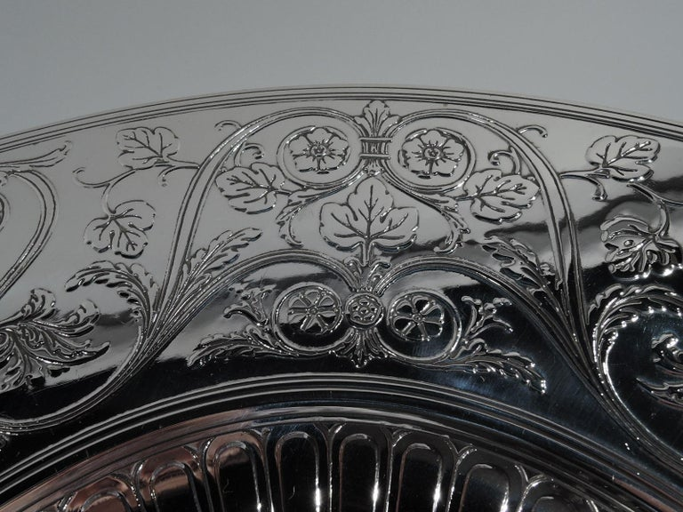 20th Century Striking Antique Tiffany Sterling Silver Classical Centrepiece Compote For Sale