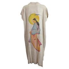 Striking Art Deco Air Brushed Lounging Robe