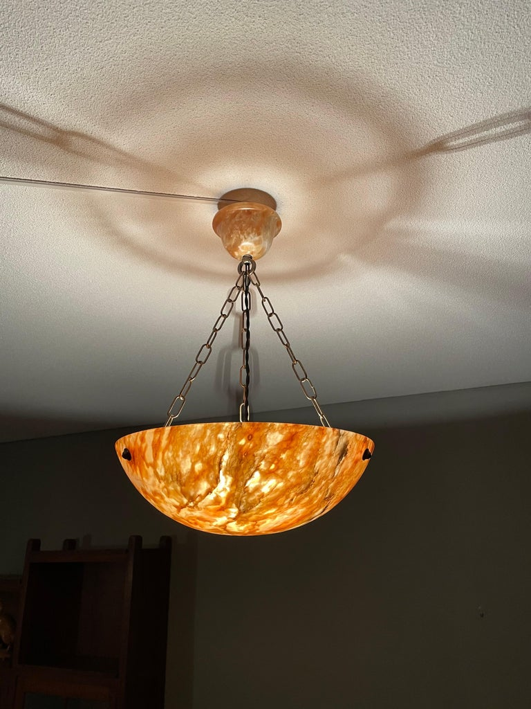 Marvelous antique light fixture for an entry hall, bedroom etc.  With antique light fixtures being one of our specialities, we always love finding timeless pendants with a 'wow factor'. This particular work of beauty comes with a very attractive