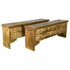 Striking Console Tables from Reclaimed Teak, 20th Century