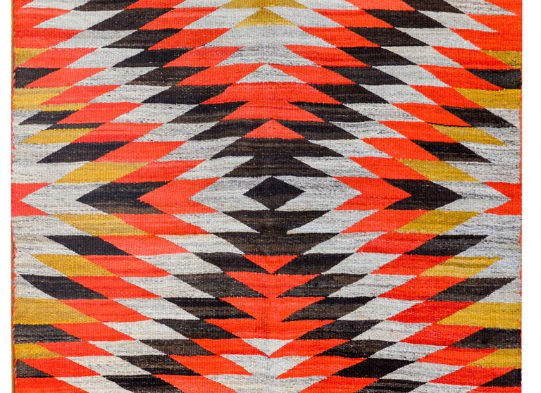 Striking Early 20th Century Navajo Rug For Sale At 1stdibs