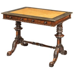 Striking Goncalo Alves 'Albuera Wood' Writing Table Attributed to Gillows