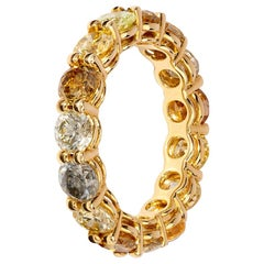 Striking Grey, Yellow and Brown Diamond Eternity Ring
