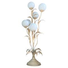 Striking Hans Kogl White Foliage Floor Lamp