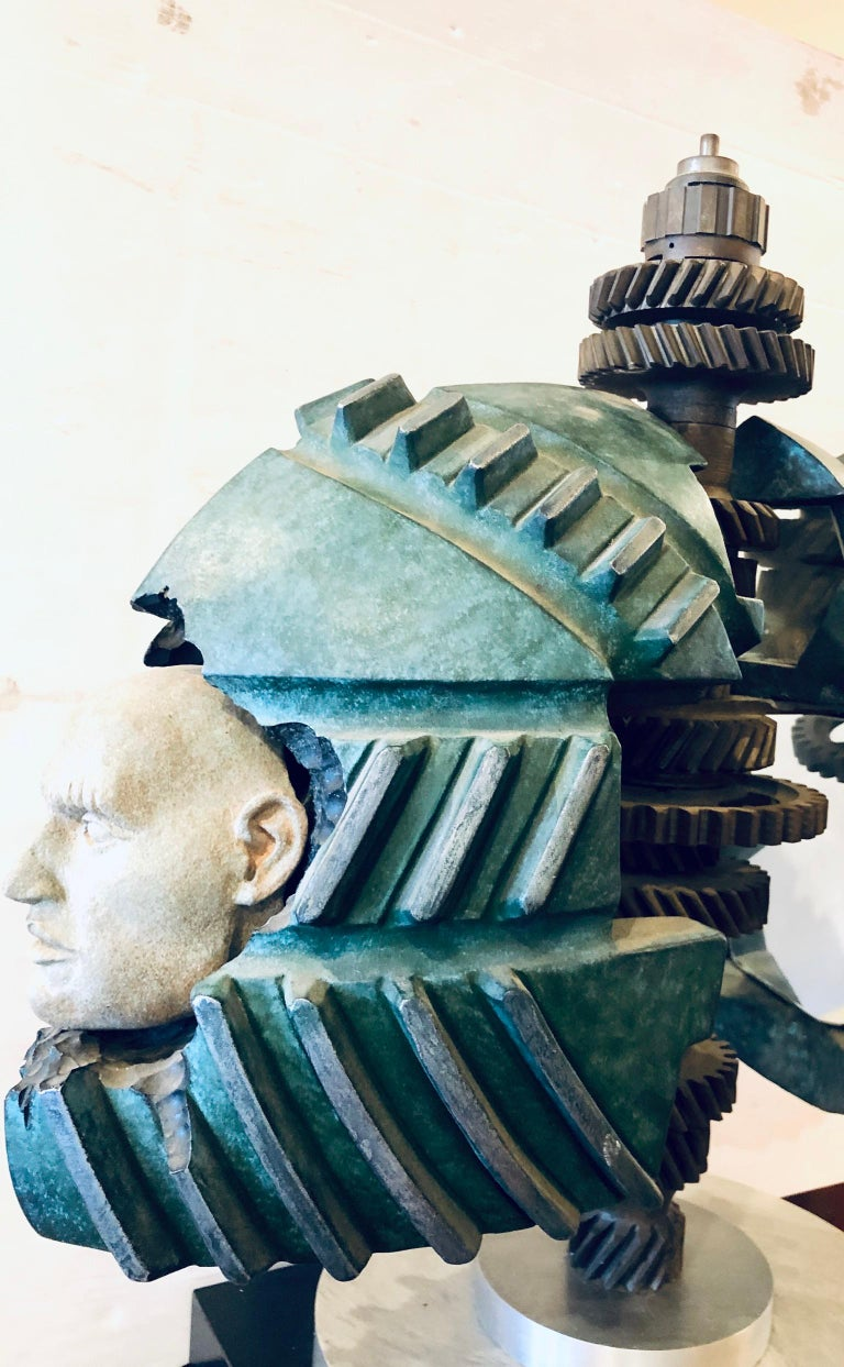 American Striking Industrial Sculpture by California Listed Artist Robert Ortlieb For Sale