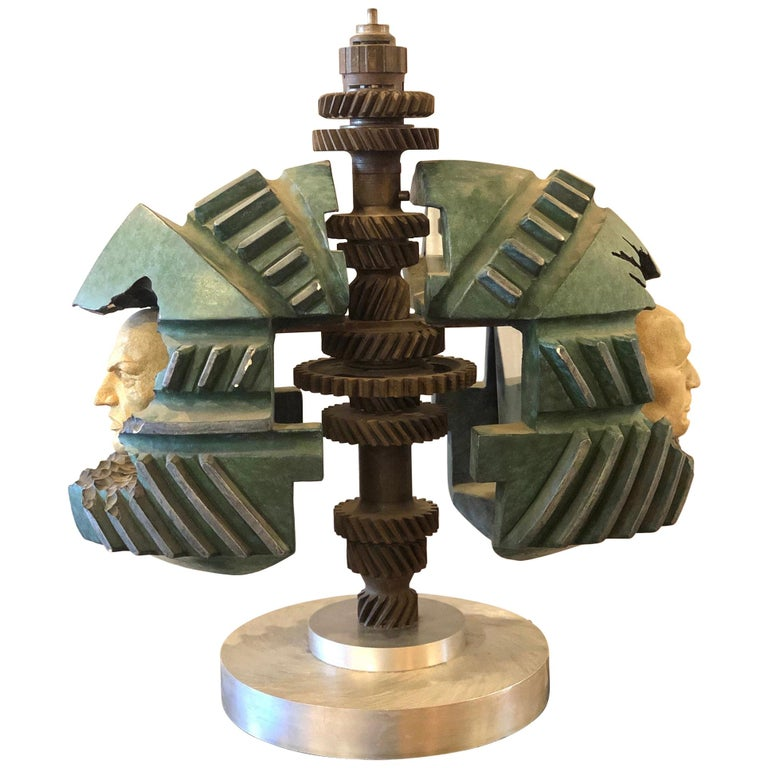 Striking Industrial Sculpture by California Listed Artist Robert Ortlieb For Sale