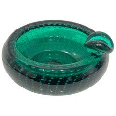 Striking Italian Muran Thick Mouth Blown Glass Centrepiece Bowl/Ashtray