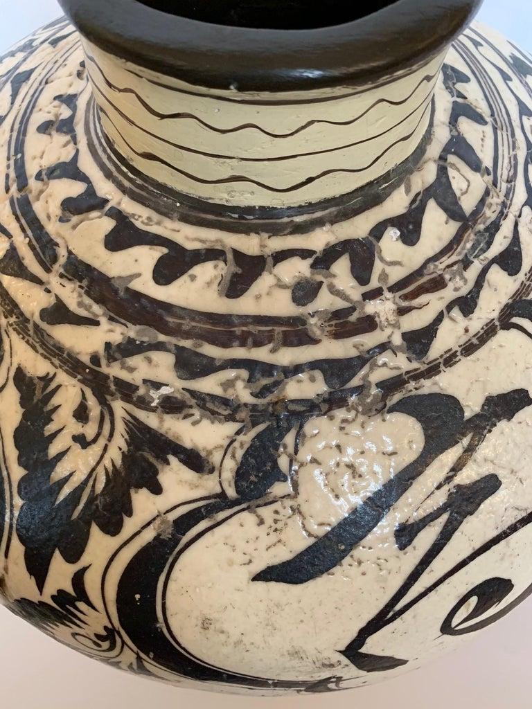 Chinese Striking Large Cizhou Ware Vessel Vase For Sale